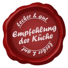 button siegel empfehlung der küche