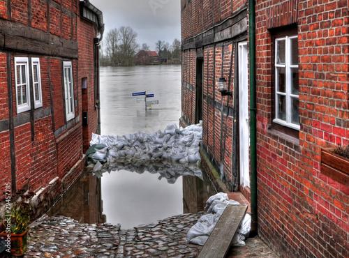 Hochwasser Strassenschilder - 29457785