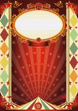 circus vintage rhombus poster poster