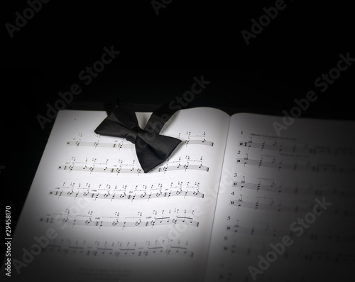 Spot light on music stand