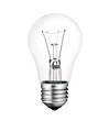 Screw Lightbulb Photo Isolated on White Background