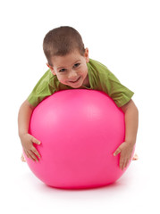 Boy whit large ball