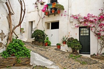A street of Cadaques, Spain