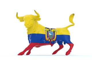 ecuador bull with flag