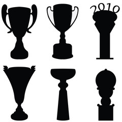 collection of trophies - vector