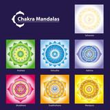Vector Mandaly čaker Symbol pro meditaci s cílem usnadnit růst