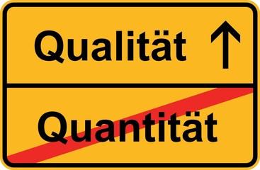Qualität statt Quantität