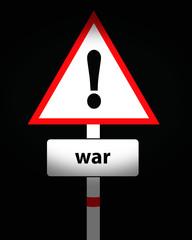 war warning sign