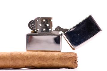 Cigar with Lighter