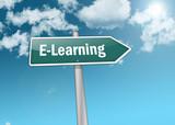 "Signpost ""E-Learning"""
