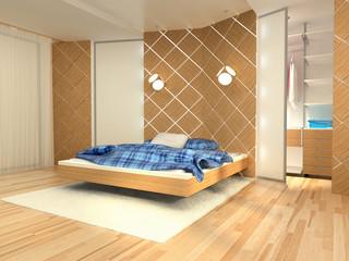 bedroom,  rendering