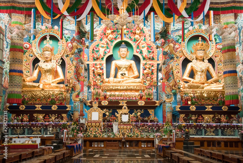 Kushalnagar India  city pictures gallery : Buddhism the temple at Kushalnagar, Coorg, India