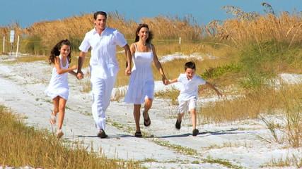 Healthy Family Beach Fun filmed at 60FPS