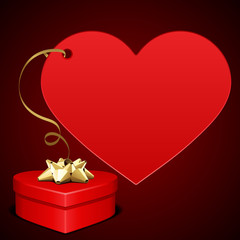 Heart gift present Valentine's day vector background