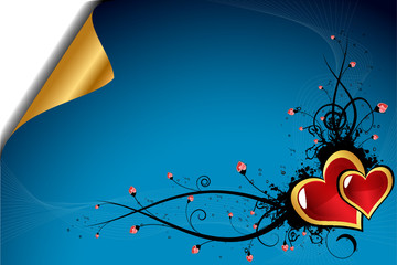 Beautiful Valentine´s day dark blue background