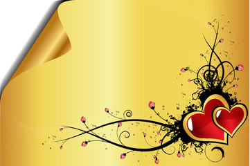 Beautiful golden Valentine´s day background