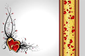 Creative Valentine´s day greeting card vector