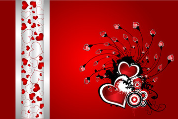 Beautiful floral Valentine´s day vector