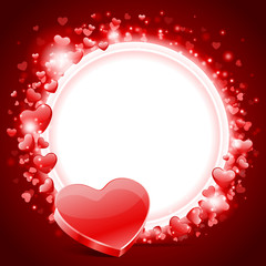 Valentine's day vector background with heart