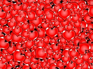 red love hearts background