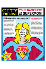 Mothers Day Super Mom Greeting Card