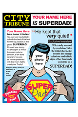 Fathers Day Super Dad Greeting Card