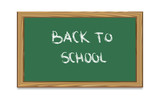 School Chalk Board With Text Back to School