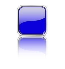 Web Button eckig blau