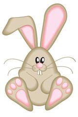 Cute Brown Easter Bunny Vector