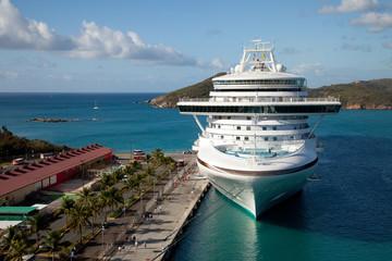 Cruise Ship in St. Thomas, Caribbean
