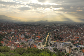Prizren in Kosovo at sunset