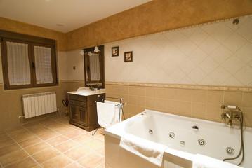 Cuarto de baño con jacuzzi.