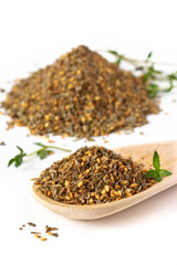 Zaatar. Mix of herbs, sesame seeds and salt.