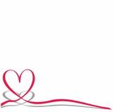 herz, valentin, glückwunsch modern schleife