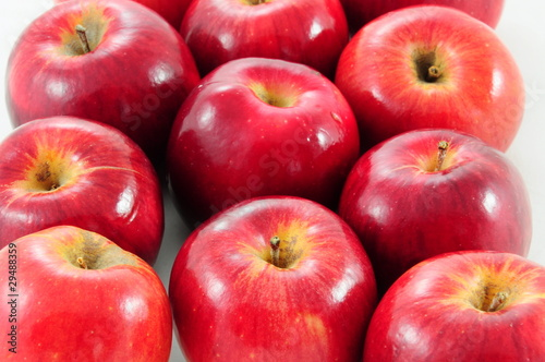 red apples as a background
