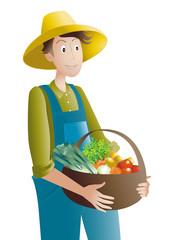 jardinier-panier de légumes
