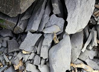 Gray flagstone texture limestone in Pyrenees