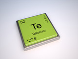 Tellurium chemical element of the periodic table with symbol Te poster