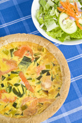 Smoked Salmon Quiche and Fresh Salad