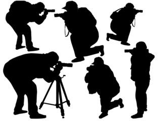Photographers silhouette