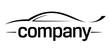 Sport car silhouette logo