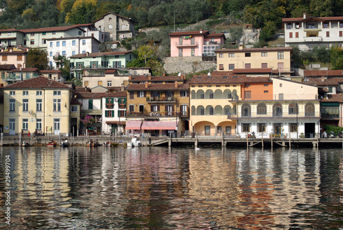 Town of Peschiera, Iseo lake, Italy