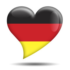 Corazon brillante bandera Alemania