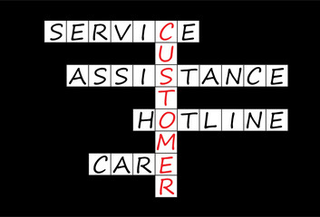 CUSTOMER Crossword (service assistance hotline care)