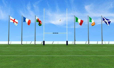 six nations rugby concept