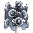 isolated loudspeakers 3d illustration