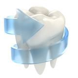 Fototapety teeth protection 3d concept