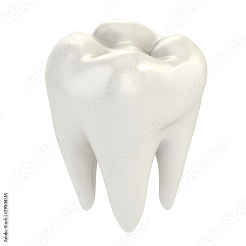 Leinwanddruck Bild isolated tooth 3d illustration
