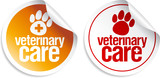 Veterinary care stickers set. poster