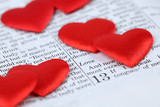 Bible open to 1st Corinthians 13 and heart shaped confetti poster